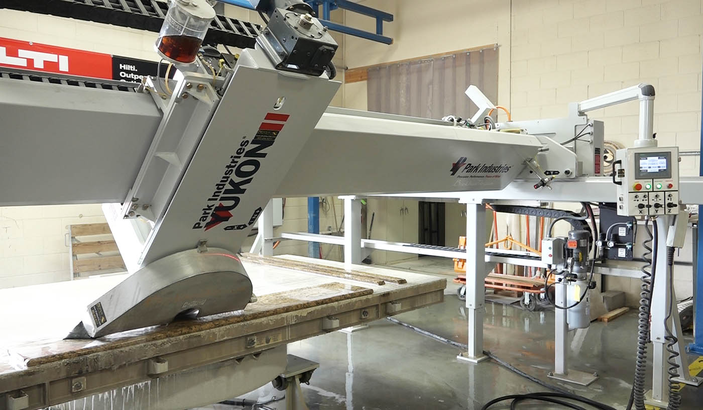 YUKON II Bridge Saw with Powered 0-47 degree miter cutting