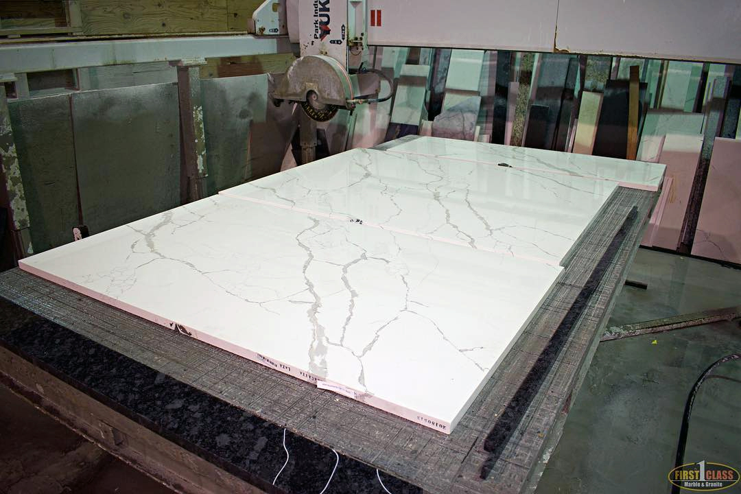 Cutting at First Class Marble & Granite
