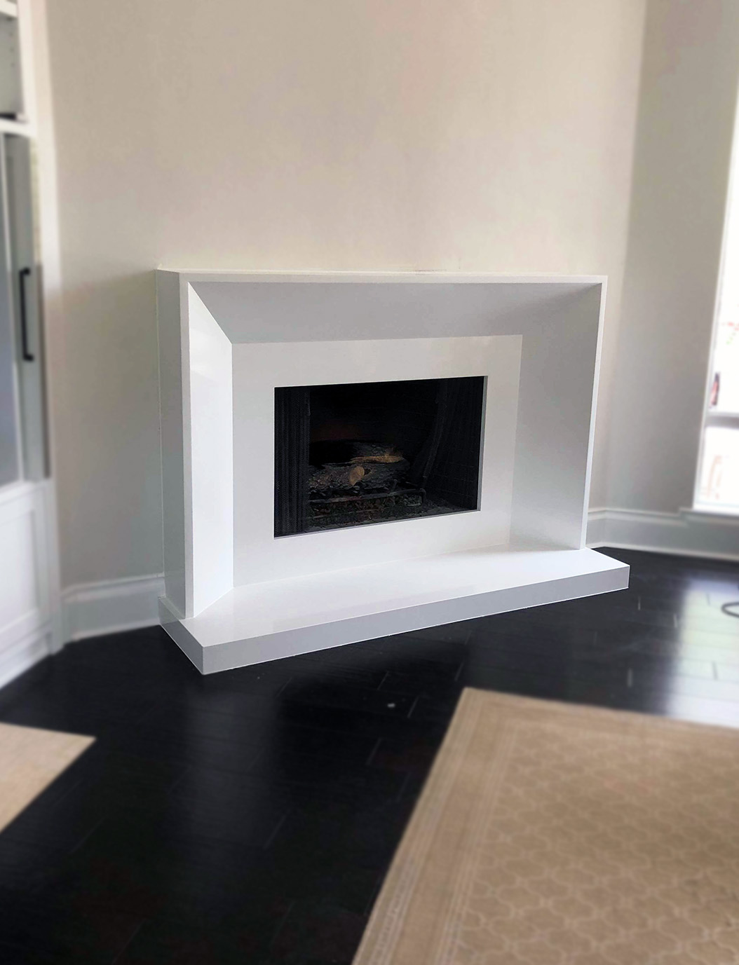 Fireplace cut by World of Granite