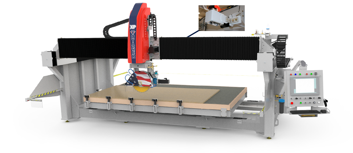 Features of the VOYAGER XP CNC Saw for Stone Cutting