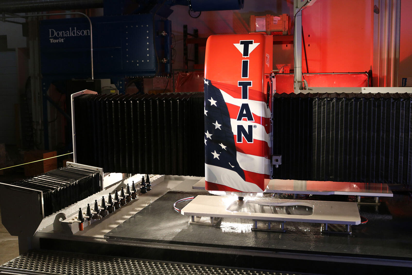 High Speed Stone Polishing | TITAN CNC Router from Park Industries for Stone Fabrication
