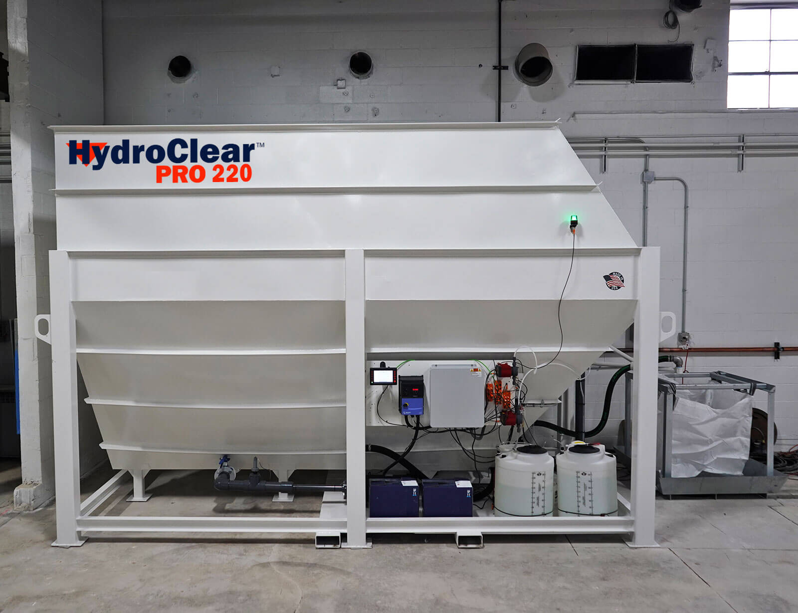 HydroClear Pro 220 Model | Water Recycling & Management System for Stone Fabrication Machinery